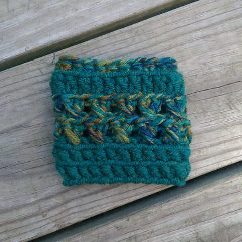 Drink Sleeve in Emerald and Peacock