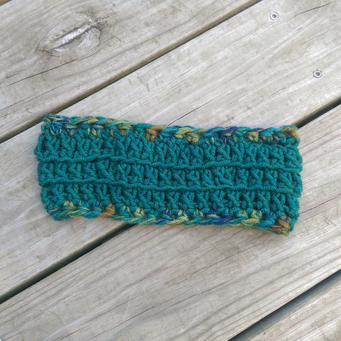 Ear Warmer in Emerald and Peacock