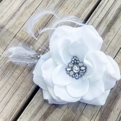 Jeweled Rose Bridal Hair Flower - #QtsyLife  Fashion and Planner Accessories - QtsyLife.com