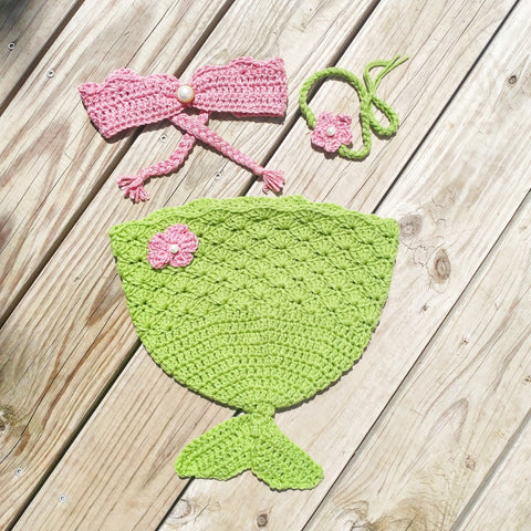 Mermaid Infant Cocoon Photo Prop Crochet - #QtsyLife  Fashion and Planner Accessories - QtsyLife.com