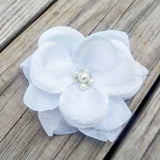 Pearl White Rose Bridal Hair Flower - #QtsyLife  Fashion and Planner Accessories - QtsyLife.com