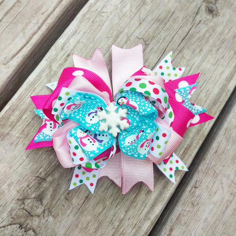 Cutest Little Snowflake Pink Holiday Hair Bow Gift Set - #QtsyLife  Fashion and Planner Accessories - QtsyLife.com