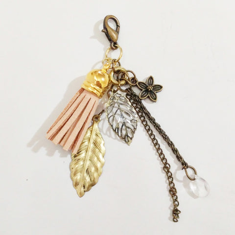 Beige Leaf Planner, Purse, or Key Chain Charm - #QtsyLife  Fashion and Planner Accessories - QtsyLife.com
