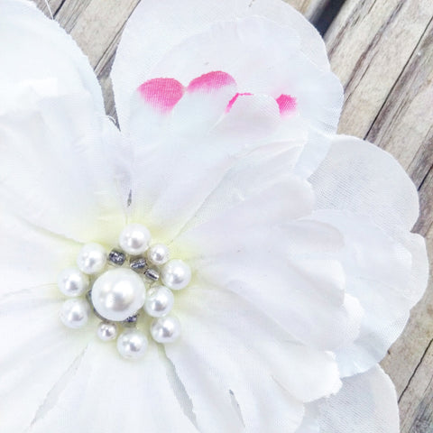Pretty White Peony Bridal Hair Flower - #QtsyLife  Fashion and Planner Accessories - QtsyLife.com