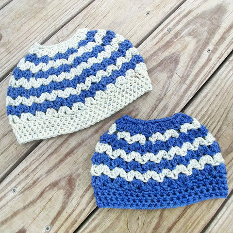 Messy Bun Pony Tail Crochet Hat Mommy and Me or Sister and Me - #QtsyLife  Fashion and Planner Accessories - QtsyLife.com