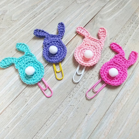 Crochet Bunny Page Clips for Planners & Bookmarks