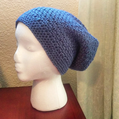 Dusty Blue Slouchy Beanie - #QtsyLife  Fashion and Planner Accessories - QtsyLife.com