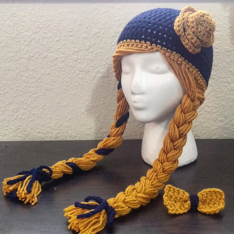 Custom Crochet School Spirit Prep Rally Hat - #QtsyLife  Fashion and Planner Accessories - QtsyLife.com