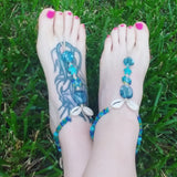 Sea Shell Sea Turtle Barefoot Sandals - #QtsyLife  Fashion and Planner Accessories - QtsyLife.com