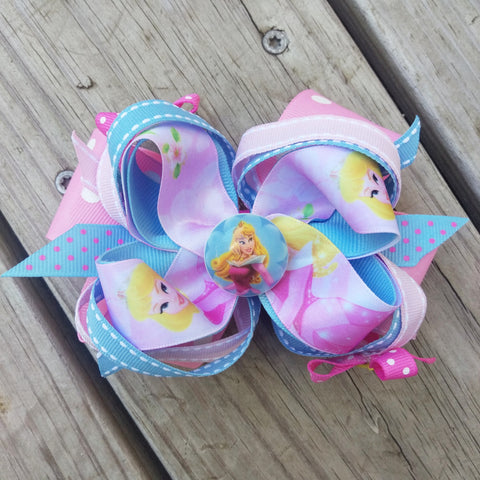 Sleeping Beauty's Aurora Hair Bow - #QtsyLife  Fashion and Planner Accessories - QtsyLife.com