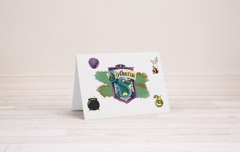 Slytherin Greeting Card - Printable Download