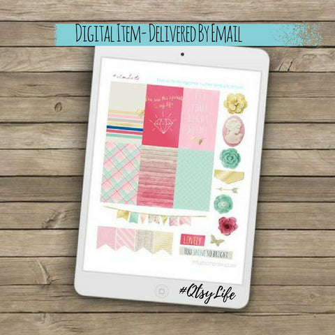 Soft Bling Printable Planner Stickers - The BIG Happy Planner