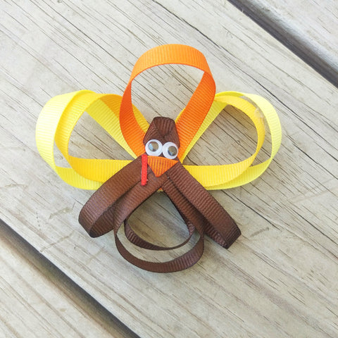 Sweet Little Autumn Turkeys Hair Clips - #QtsyLife  Fashion and Planner Accessories - QtsyLife.com