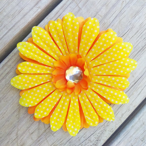 Autumn Daisy Hair Flower - #QtsyLife  Fashion and Planner Accessories - QtsyLife.com
