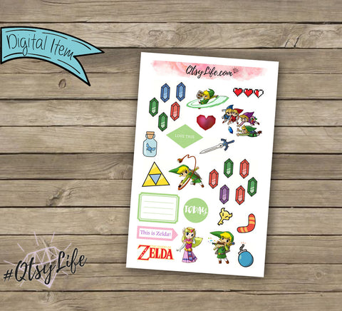 Zelda Printable Planner Stickers
