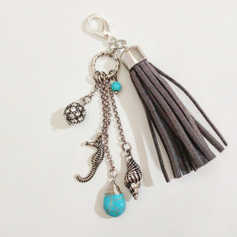 Grey Nautical Sea Planner, Purse, or Key Chain Charm - #QtsyLife  Fashion and Planner Accessories - QtsyLife.com