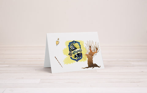 Hufflepuff Greeting Card - Printable Download