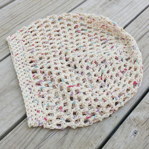 Crochet Open Weave Beanie in Confetti - #QtsyLife  Fashion and Planner Accessories - QtsyLife.com
