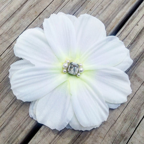 White Gardenia Bridal Hair Flower - #QtsyLife  Fashion and Planner Accessories - QtsyLife.com