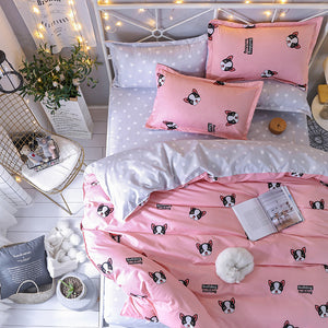 Pink French Bulldog Bedding Set