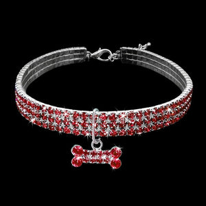 Bling Rhinestone Frenchie Collar