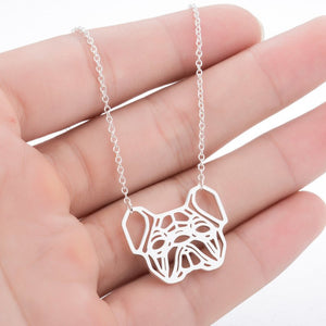 Geometric French Bulldog Necklace