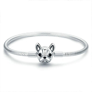 Sterling Silver French Bulldog Bracelet