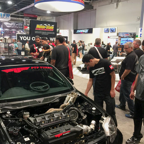 Thousands of potential customer swarm our booth at SEMA Show 2016, and our 2001 Honda Civic Type R.