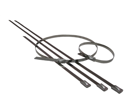 15 Inch Locking Ties - Stainless Steel