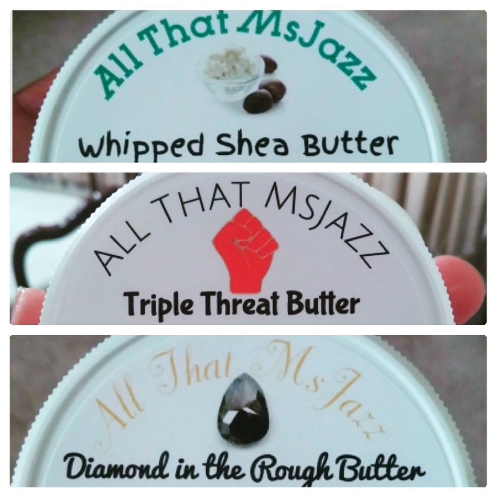 3 options of whipped butter