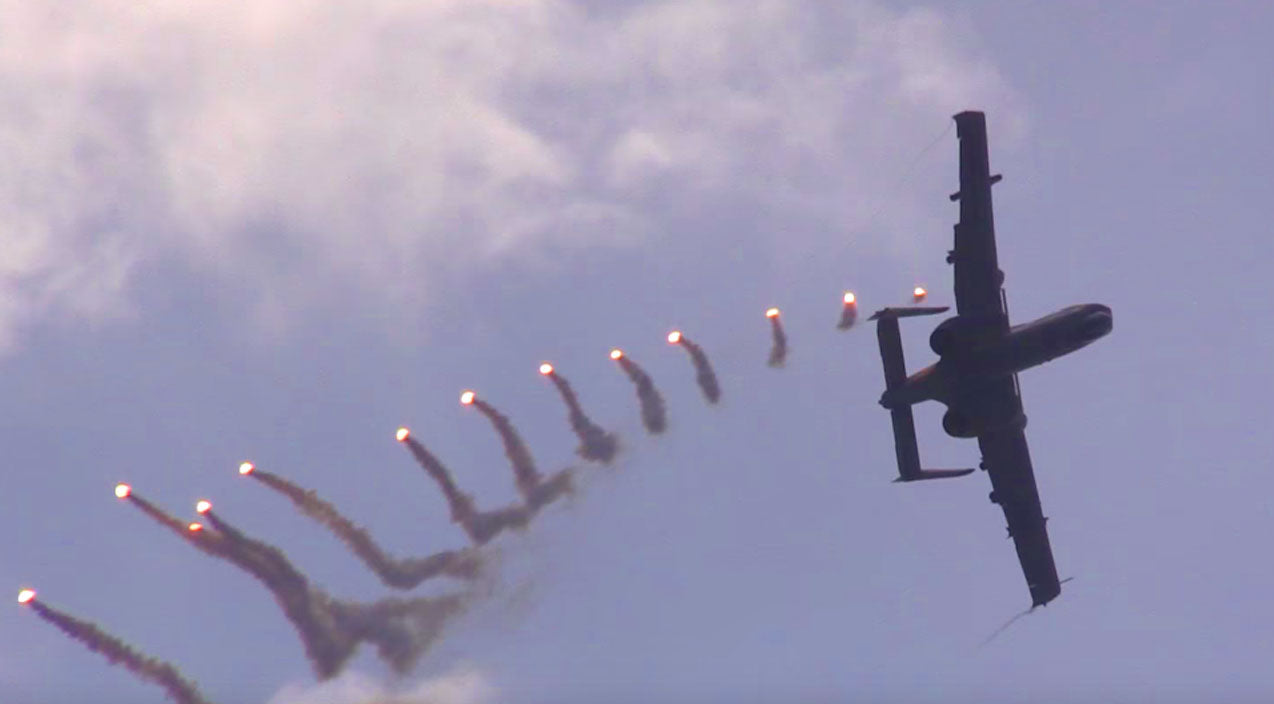 Stunt Songs | Speeding A-10 Pulls Off Insane Flare Maneuver - That Was Impressive | Frontline Videos