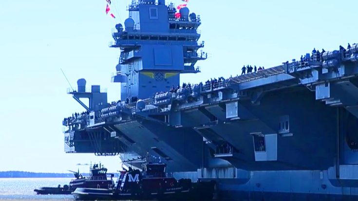 After Years Of Construction The US Navy Unleashes Their First Colossal Supercarrier   Frontline Videos