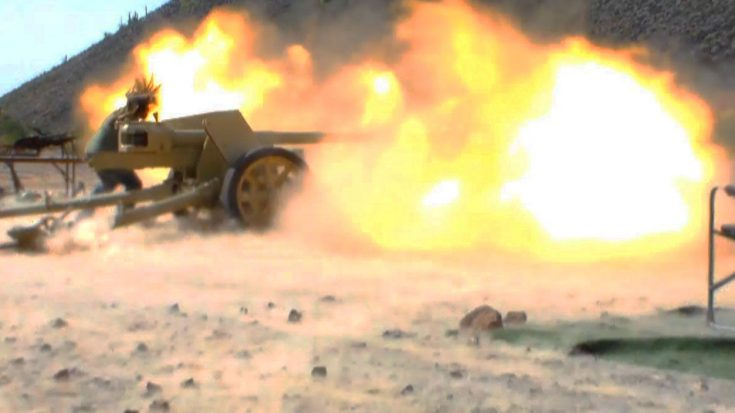 Overwhelming Explosion From WWII's Most Powerful Anti-Tank Gun - It's A Monster   Frontline Videos