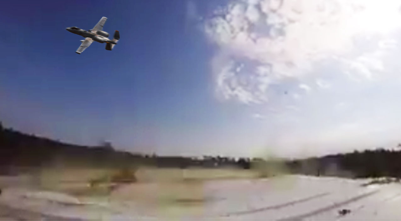 Marines Songs   Terrifying Video Of What It's Like To Have An A-10 Shoot Directly At You   Frontline Videos
