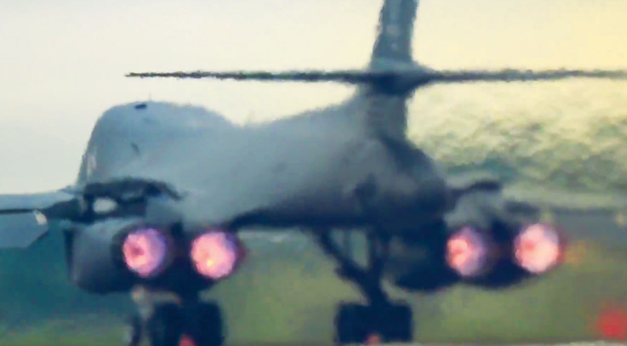 Takeoff Songs | B-1 Lancer's Takeoff Sets Off Car Alarms Yards Away | Frontline Videos