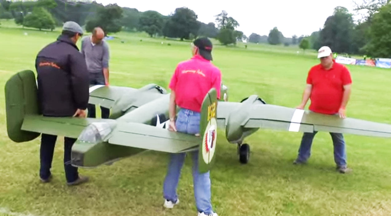 Rc plane Songs | This Massive RC B-25 Mitchell Sounds Like A Beast-You Have To See This | Frontline Videos