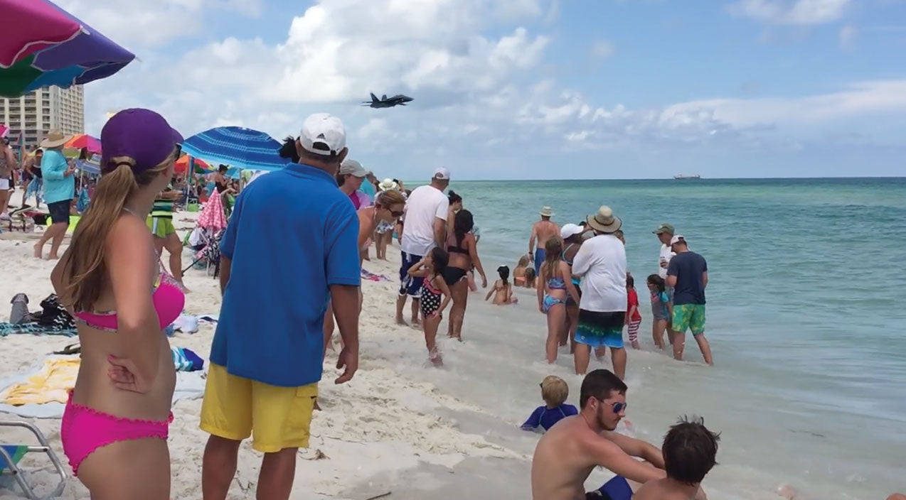 Flyby Songs | Beautiful Blue Angel Flyby On The Beach-Absolutely Epic | Frontline Videos