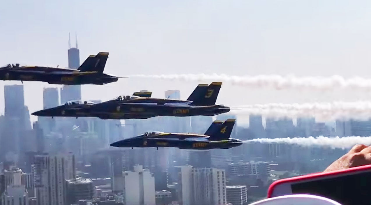 Oshkosh Songs | Blue Angels Buzz Balcony Full Of People Just A Few Feet Away-Watch The Video | Frontline Videos