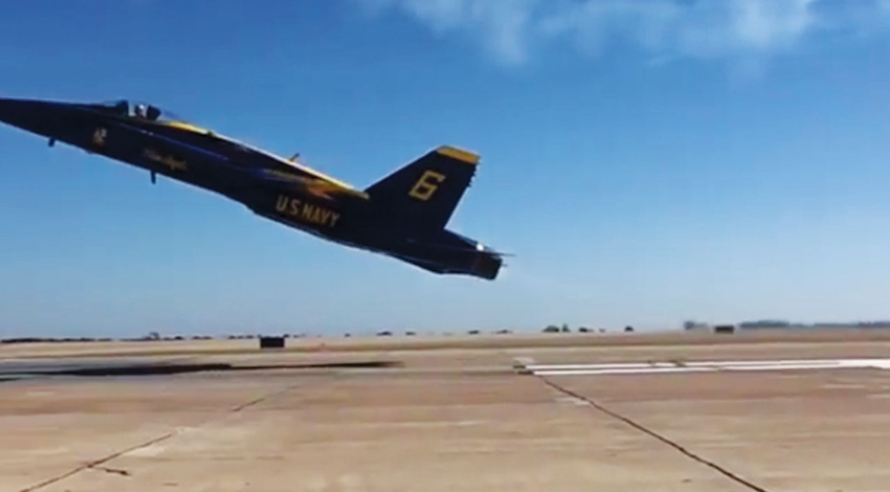 F-18 Songs | Blue Angel Lead Solo Himself Filmed This Jaw Dropping Takeoff | Frontline Videos