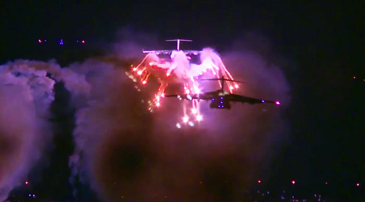 Flares at night Songs | Three C-17s Popping Flares At Night Is The Most Spectacular Thing Ever | Frontline Videos