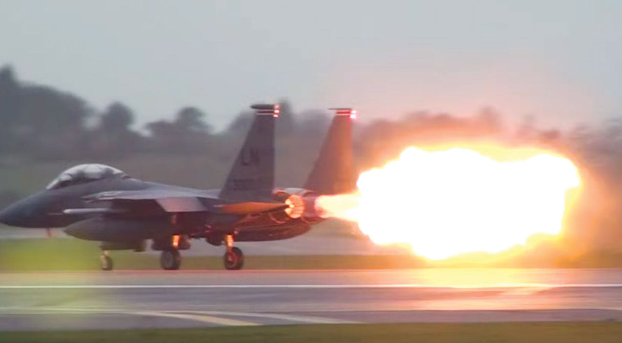 Takeoff Songs | F-15's Massive Afterburner Blowout Right Before Takeoff | Frontline Videos