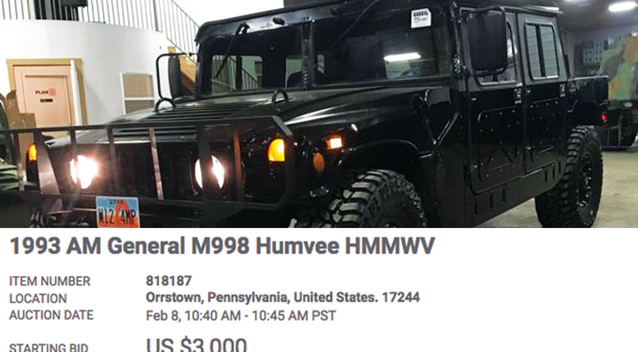 Sale Songs | The DoD Is Practically Giving Away Humvees For The Next Week | Frontline Videos