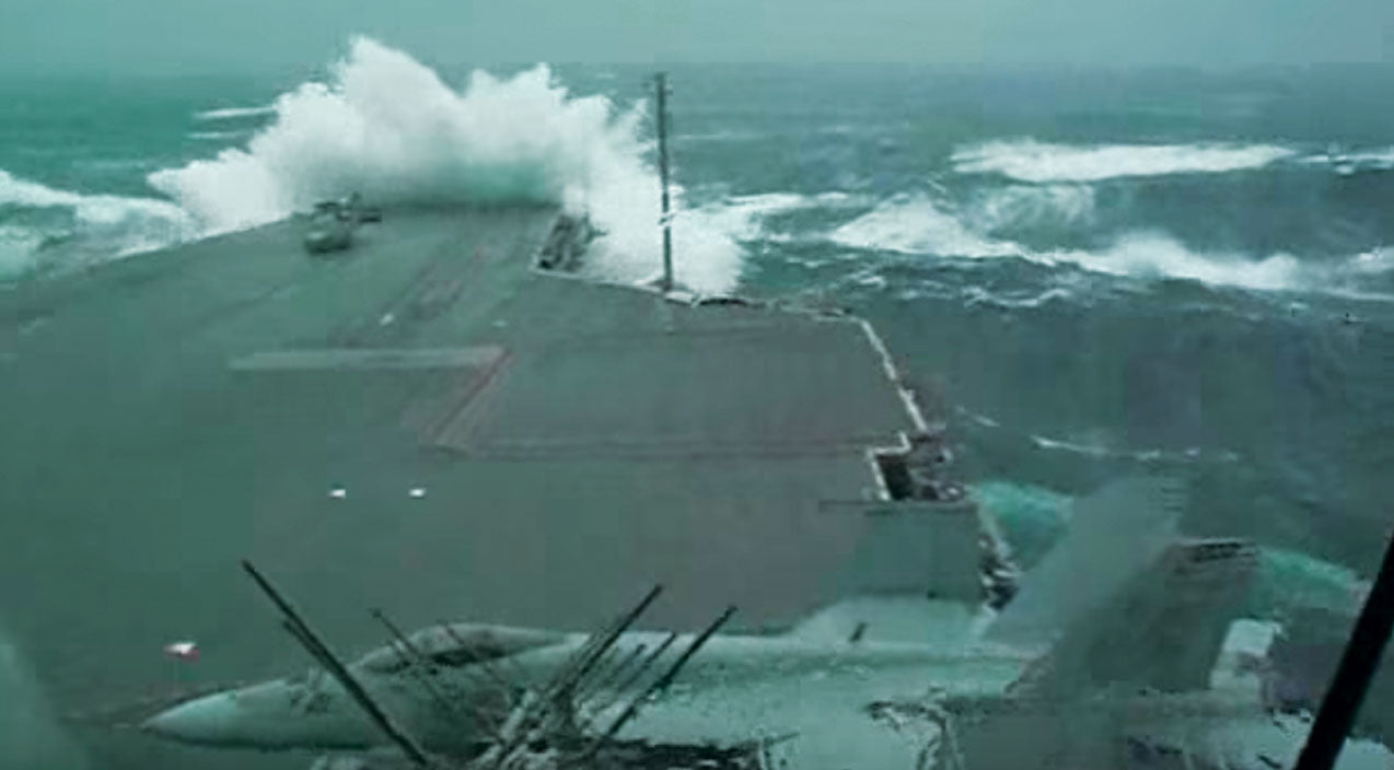 USS Kitty Hawk Braving A Storm Will Make You Sick Just Watching It | Frontline Videos
