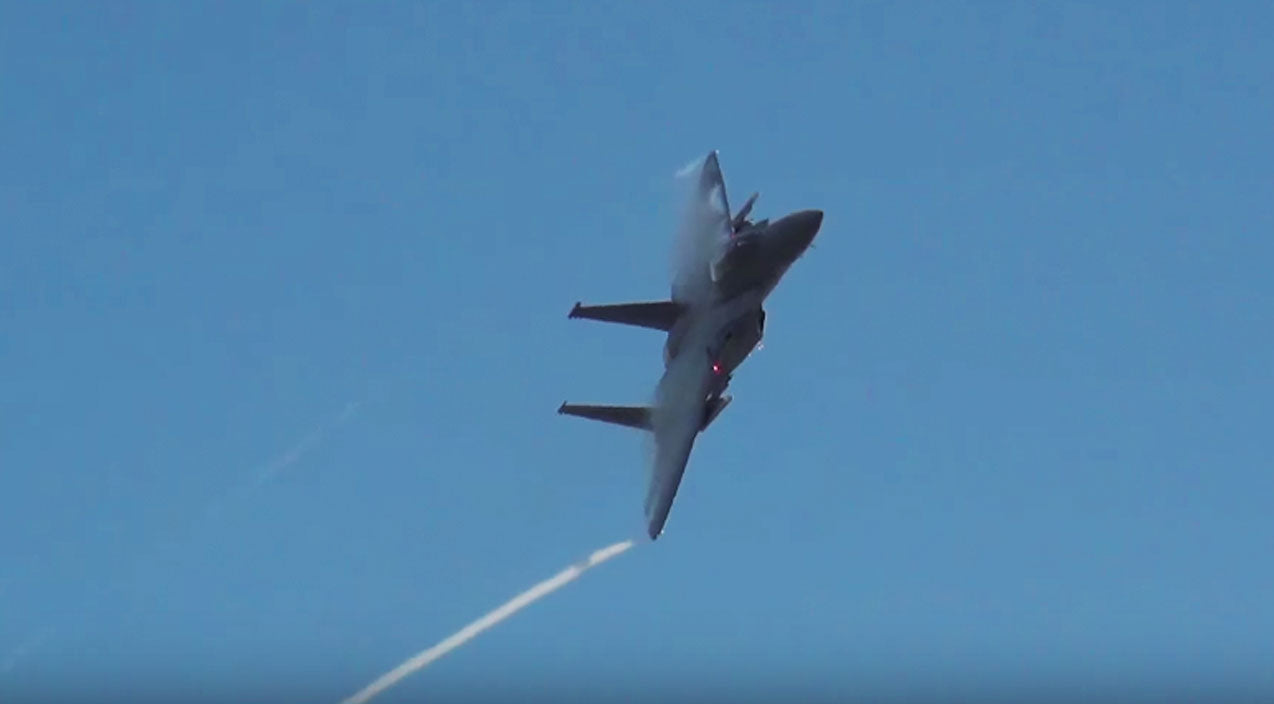 Wales Songs | Guy Captures The Most Spine Chilling F-15 Whirring Sound Ever | Frontline Videos