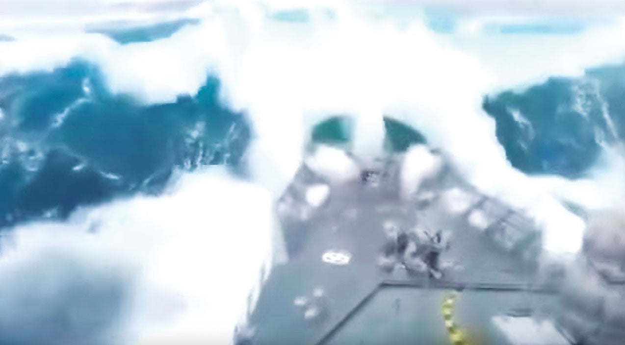 Ship Songs | Navy Ship Hits A Massive 50 Ft. Wave Head On And Hard | Frontline Videos