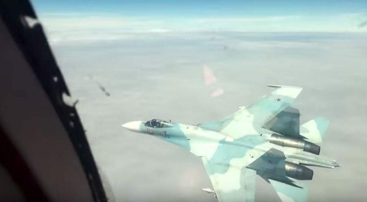 Nato Songs | News | A Unique View From The Cockpit Of A B-1 While Intercepted By A Flanker | Frontline Videos