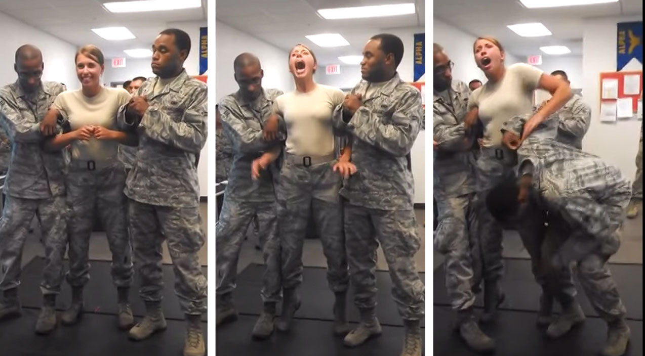 Air Force Girl Gets Tasered, Instinctively Grabs Something She Probably Shouldn't | Frontline Videos