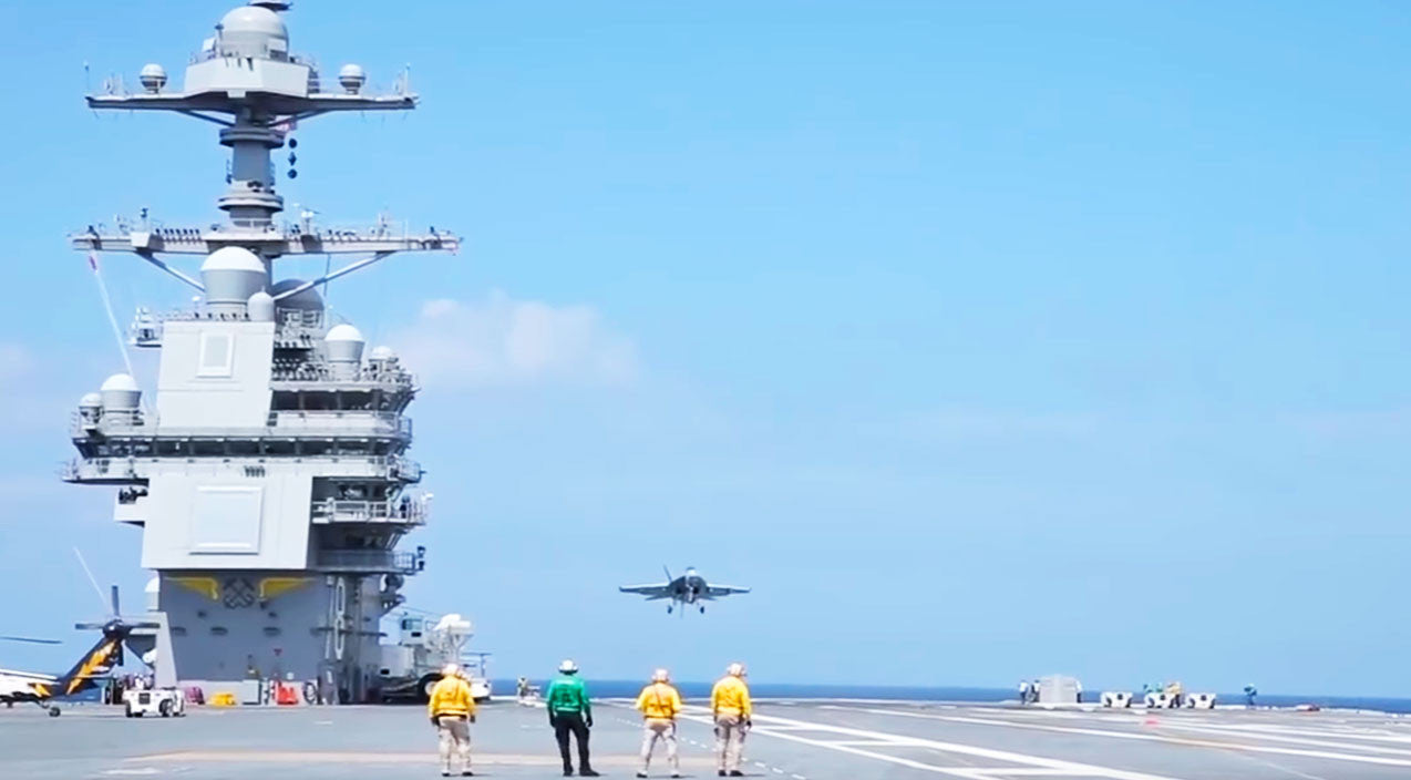 Trap Songs | New Carrier USS Ford Launches First Plane With Electromagnetic Catapult | Frontline Videos