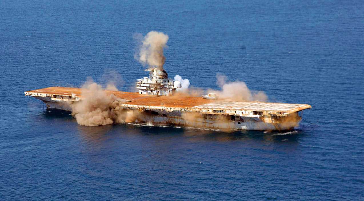U.S.N. Blows Up Gigantic Carrier-Sets World Record That Still Stands | Frontline Videos