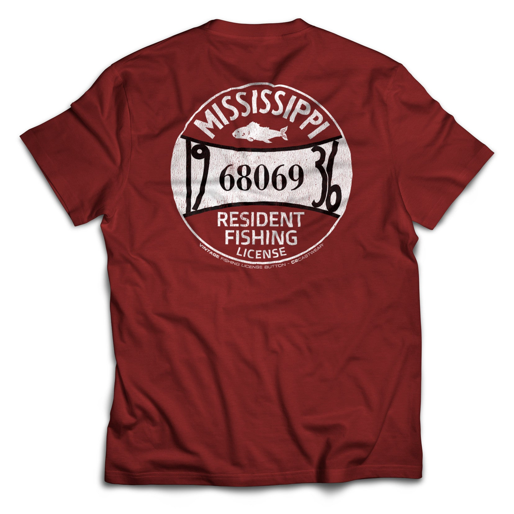 1937 ms fishing license t shirt c2 castwear for Ms fishing license